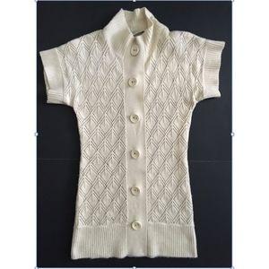 Trina Turk Wool Cashmere Short Sleeve Sweater